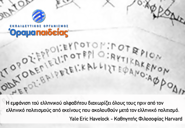 Η συμβολή τού ελληνικού αλφαβήτου στον πολιτισμό μας